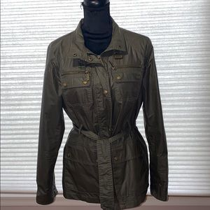 Michael Kors Olive Green Military Style Jacket